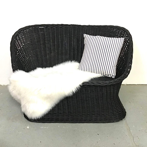 Black Wicker Loveseat