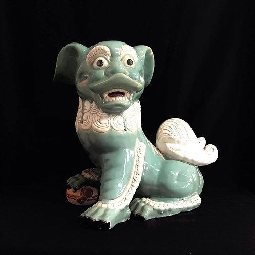 Ceramic Chinese Guardian Lion Foo Dog