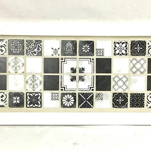 Folk Black Mosaic Tray