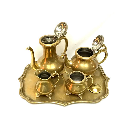Gold Plated Tea Set