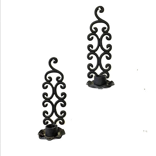 Wrought Iron Filigree Sconces - Sold as pair