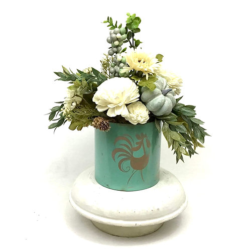 Vintage Rooster Canister Centerpiece