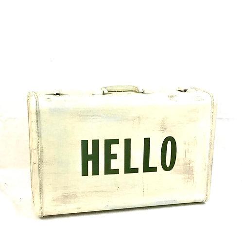 Hello Vintage Suitcase
