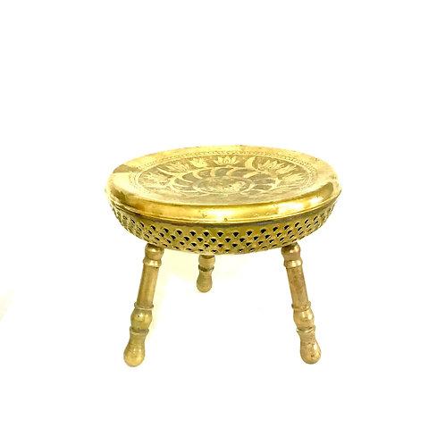 Brass Foot Warmer Ottoman
