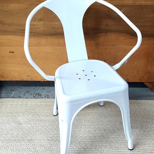Metal Farmhouse Chair in White