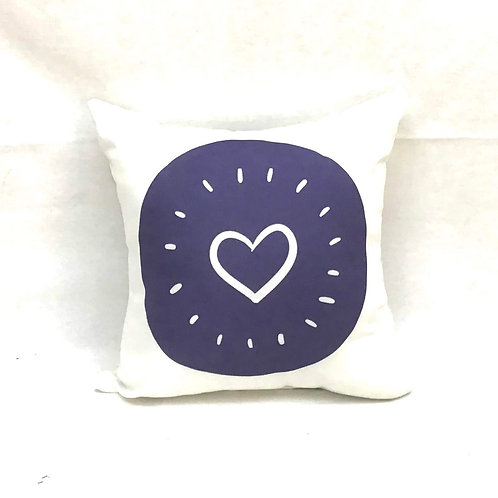 Indigo Dot Throw Pillow