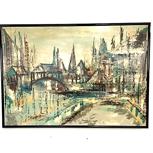 MCM Expressionism Impressionism Giclée Signed by Lee Travis