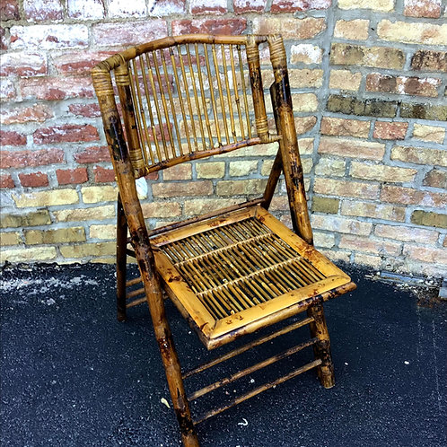 Bamboo Folding Chair with Tortoise Finish