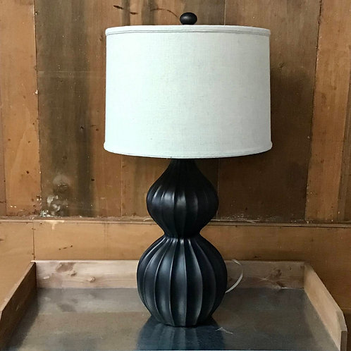 Ribbed Gourd Table Lamp