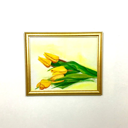 Tulip Painting with Gold Frame