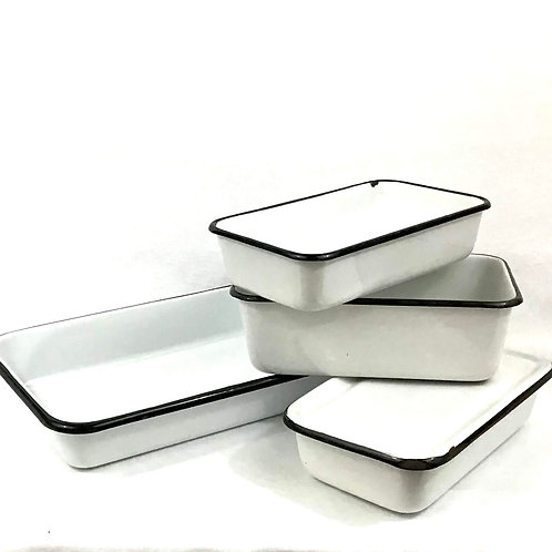 Enamelware Tray Set