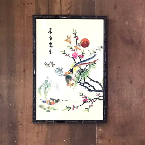 Chinese Silk Embroidery Framed Art