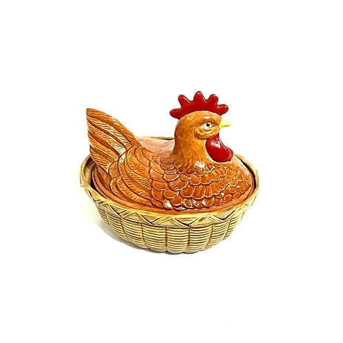 Hen on Nest Ceramic Dish