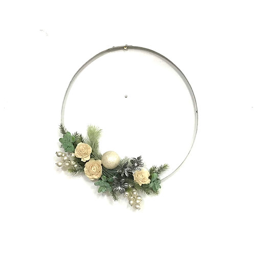 Wine Barrel Wreath - Special Occasion (Silver)