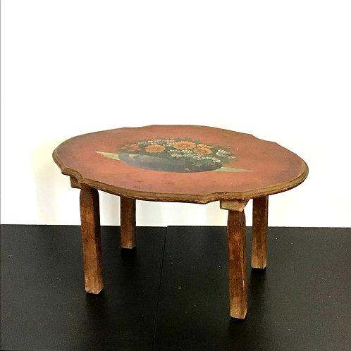 Primitive Handpainted Side Table