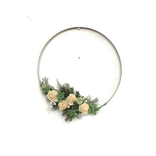 Wine Barrel Wreath - Winter Wedding (Silver)