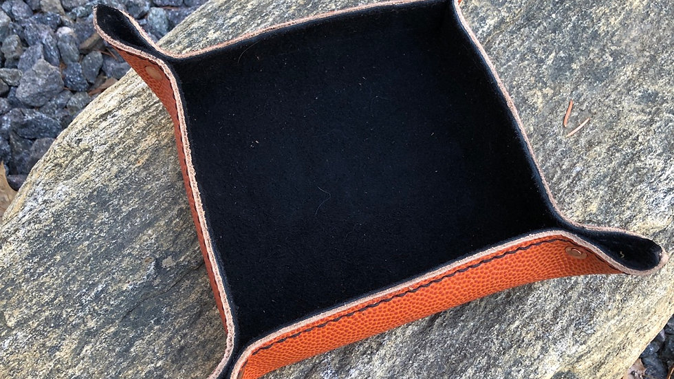 Horween Basketball Leather Valet Tray