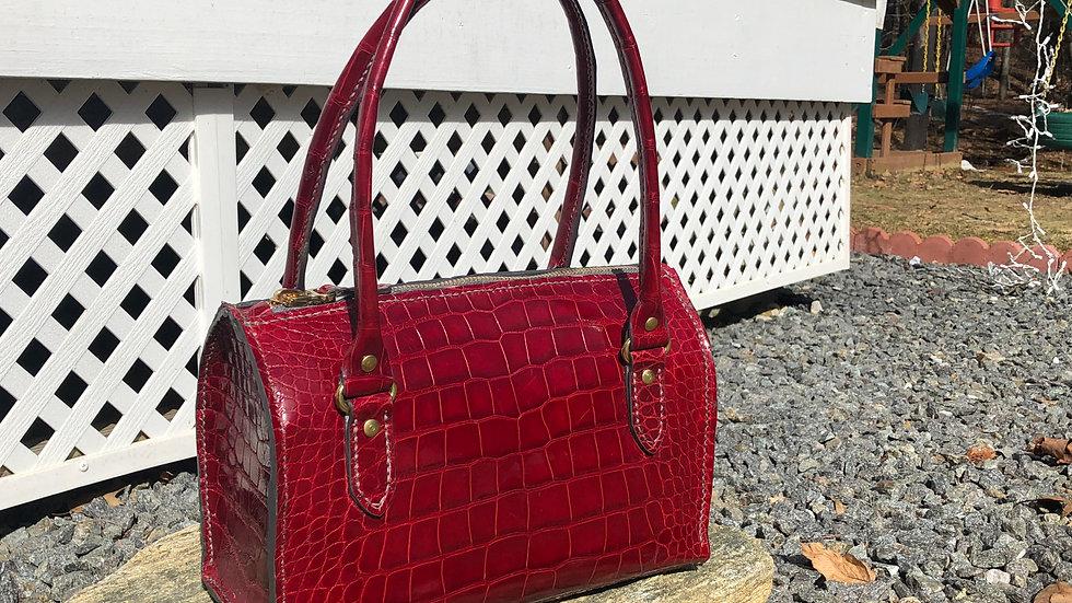Cherry Alligator Jem Bag