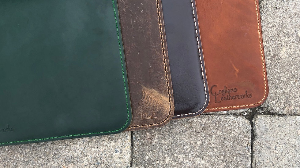 Handmade Leather Mousepad - made to order