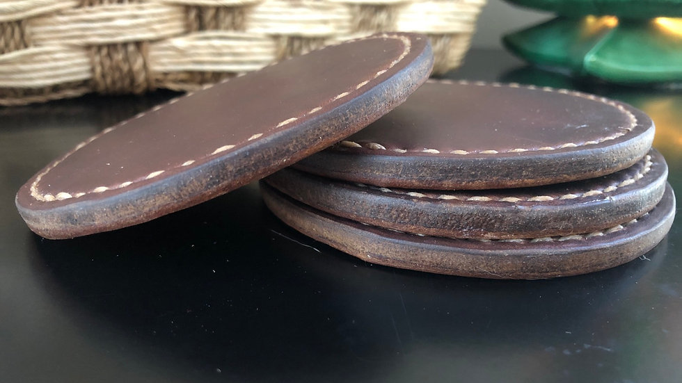 Horween Chromexcel Coasters - 4-pack - made to order