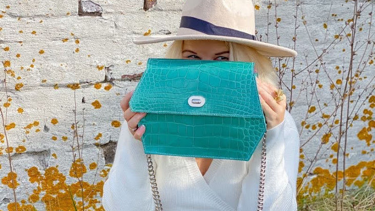 Tiffany Blue Alligator Handbag - Handmade in USA