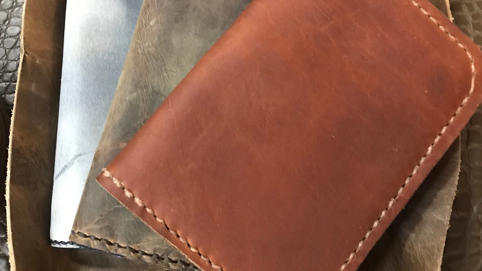 Leather passport wallet  - made to order