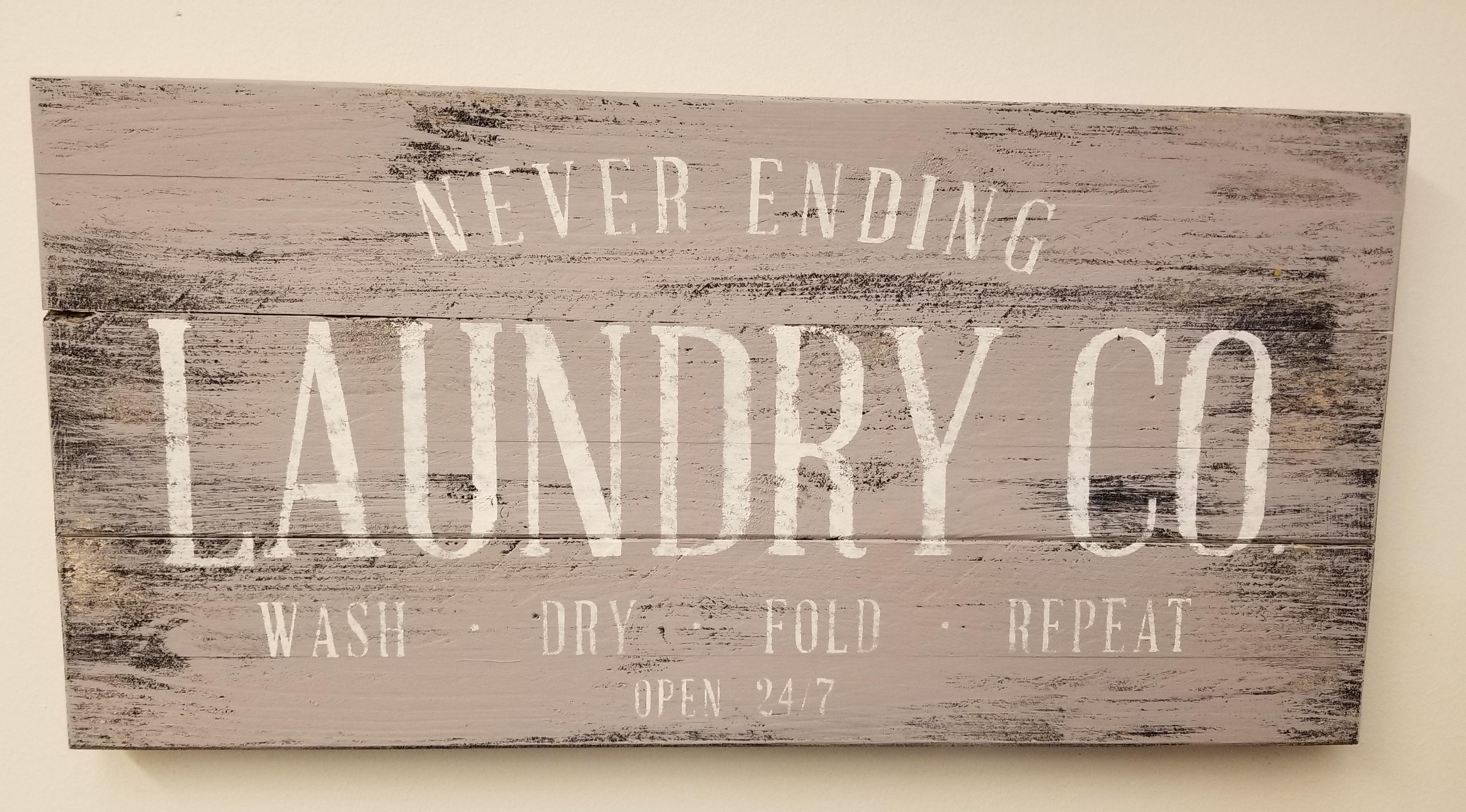 NEVER ENDING LAUNDRY