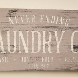 Never Ending Laundry Sign