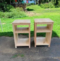 Pair End Tables, Open Back