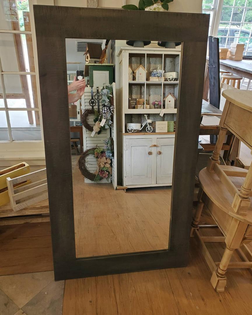 Large Barnwood Mirror