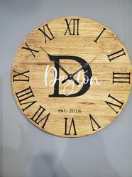 "24"" Pallet Clock, Roman Numerals, Custom Name"