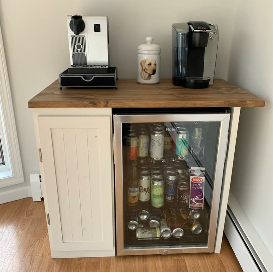 Small Storage, Door and Space for Fridge