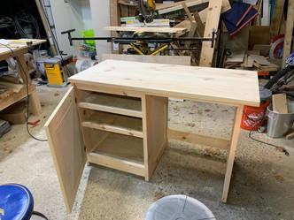 Desk with Side Storage & Door