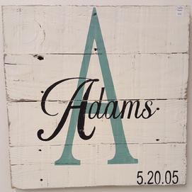 Monogram Name Sign