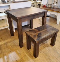 Children's Simple Desk & Bench