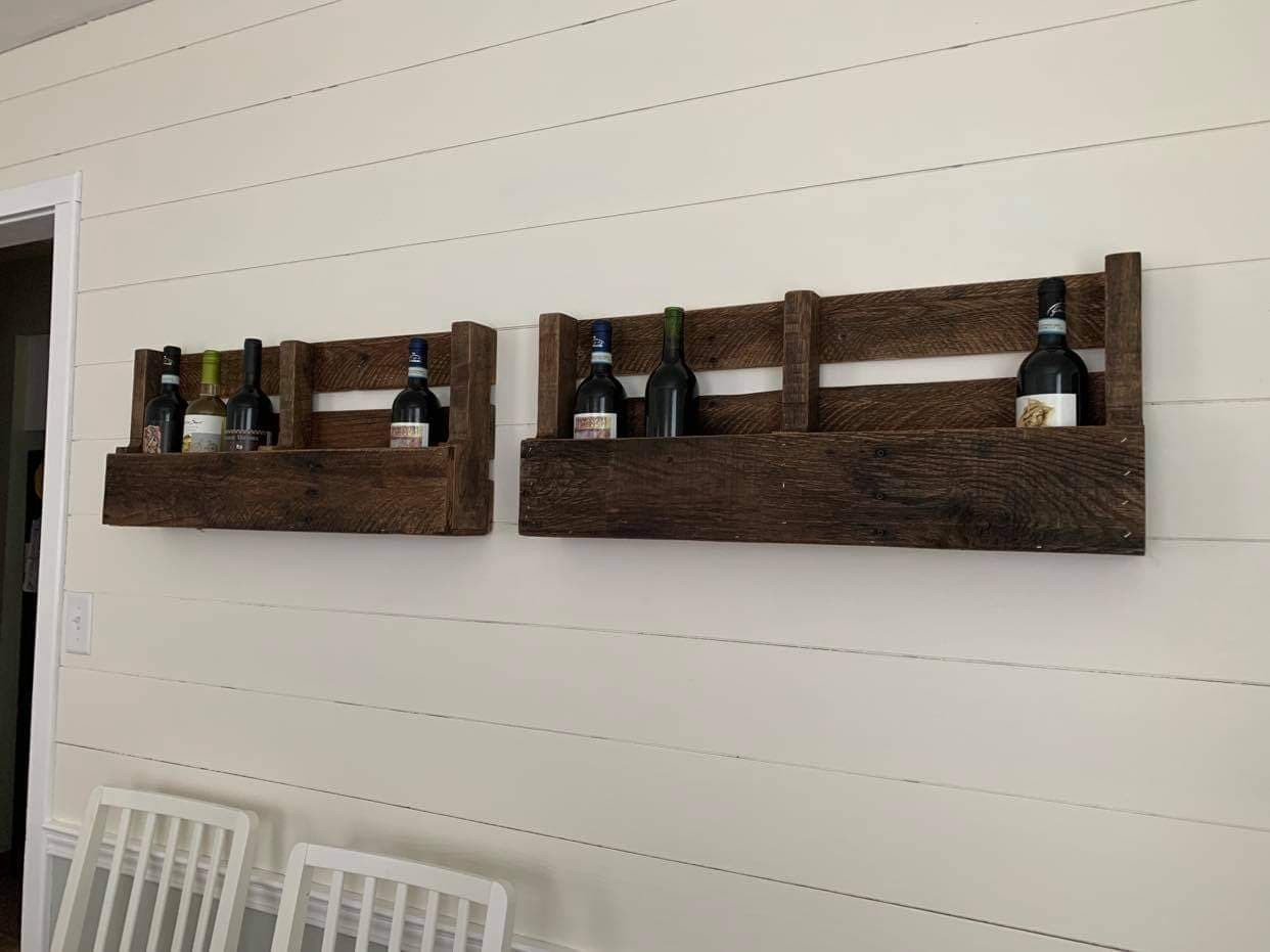 Floating Wine Racks