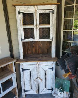 Chicken Wire Door Hutch