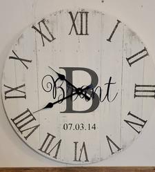 "24"" Pallet Clock, Custom Name"