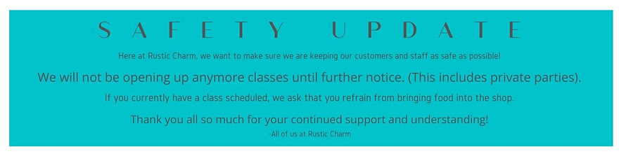 We will not be opening up anymore classe