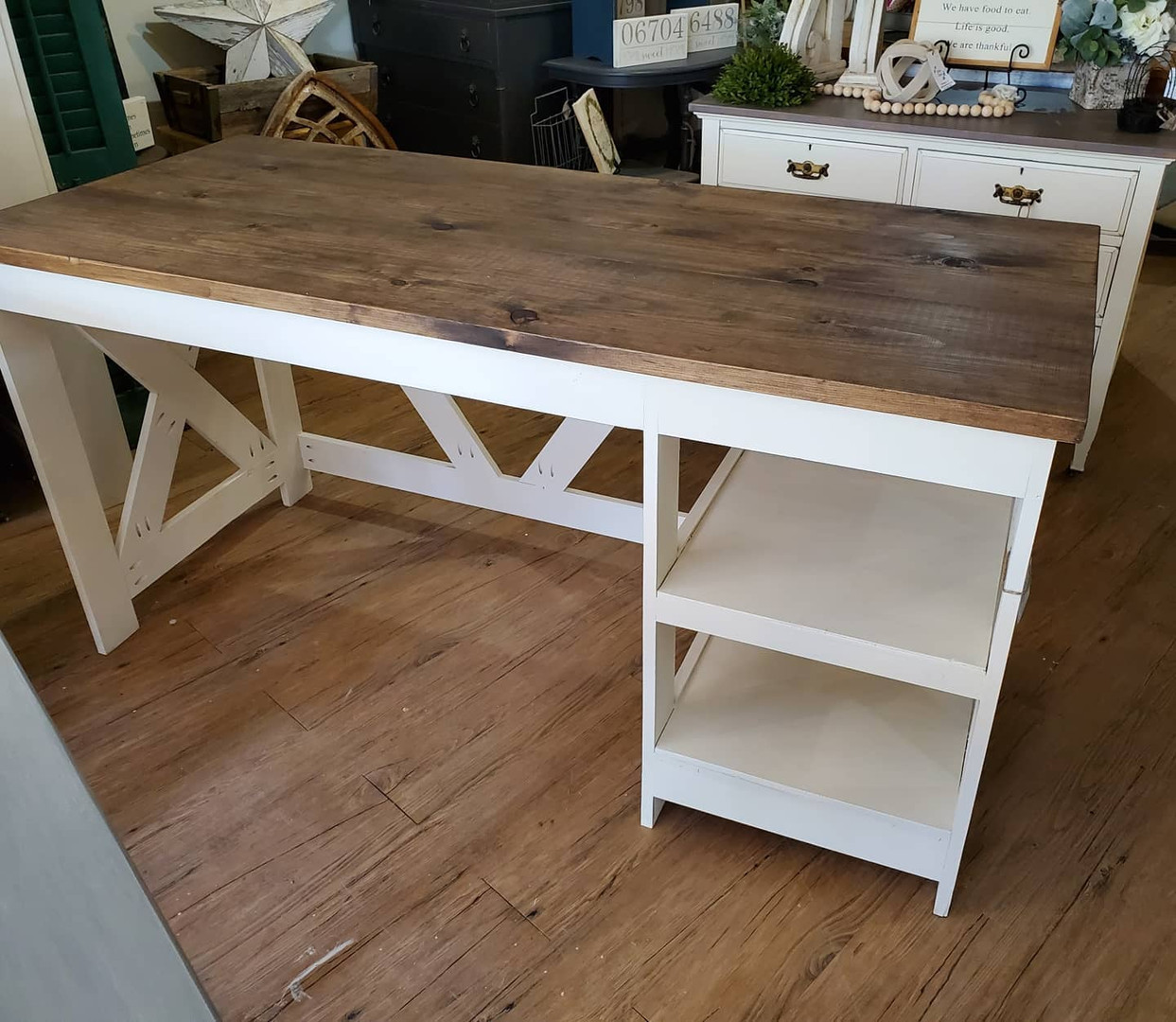 Desk with Open Storage