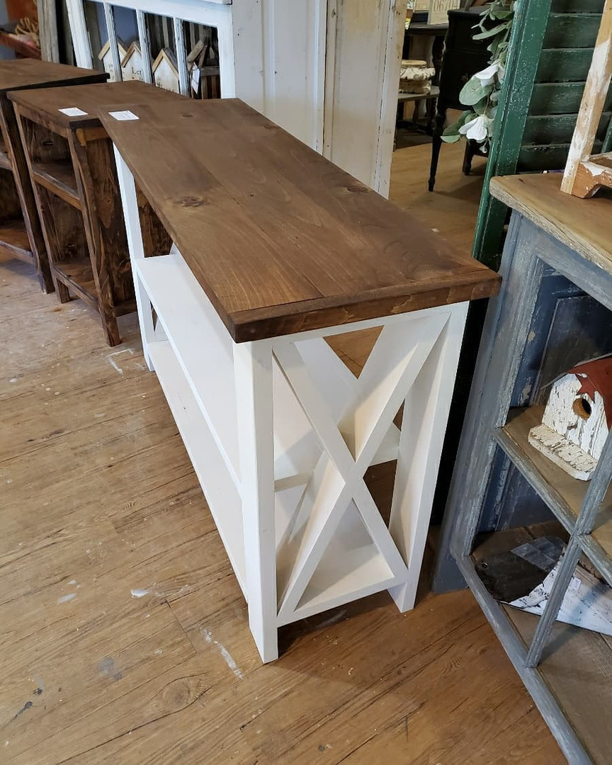 Console Table with Shelf
