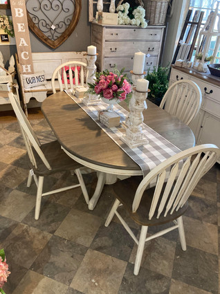 Dining Set, with 4 Chairs