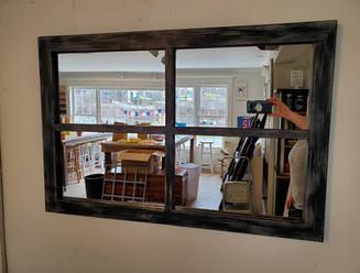 Barnwood Window Mirror