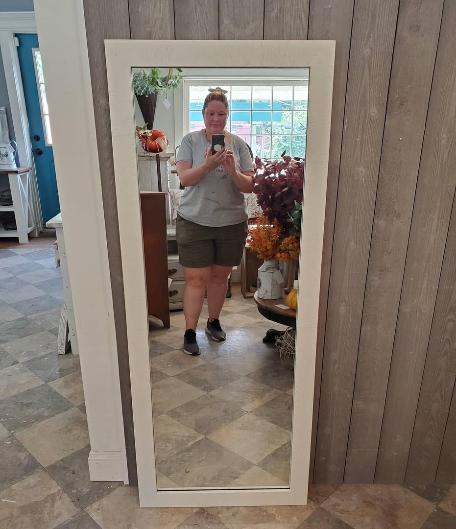 Tall Barnwood Mirror