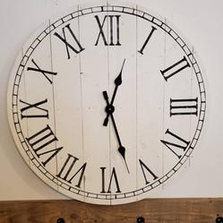 "2424"" Pallet Clock, Roman Numerals, Decorative Border"