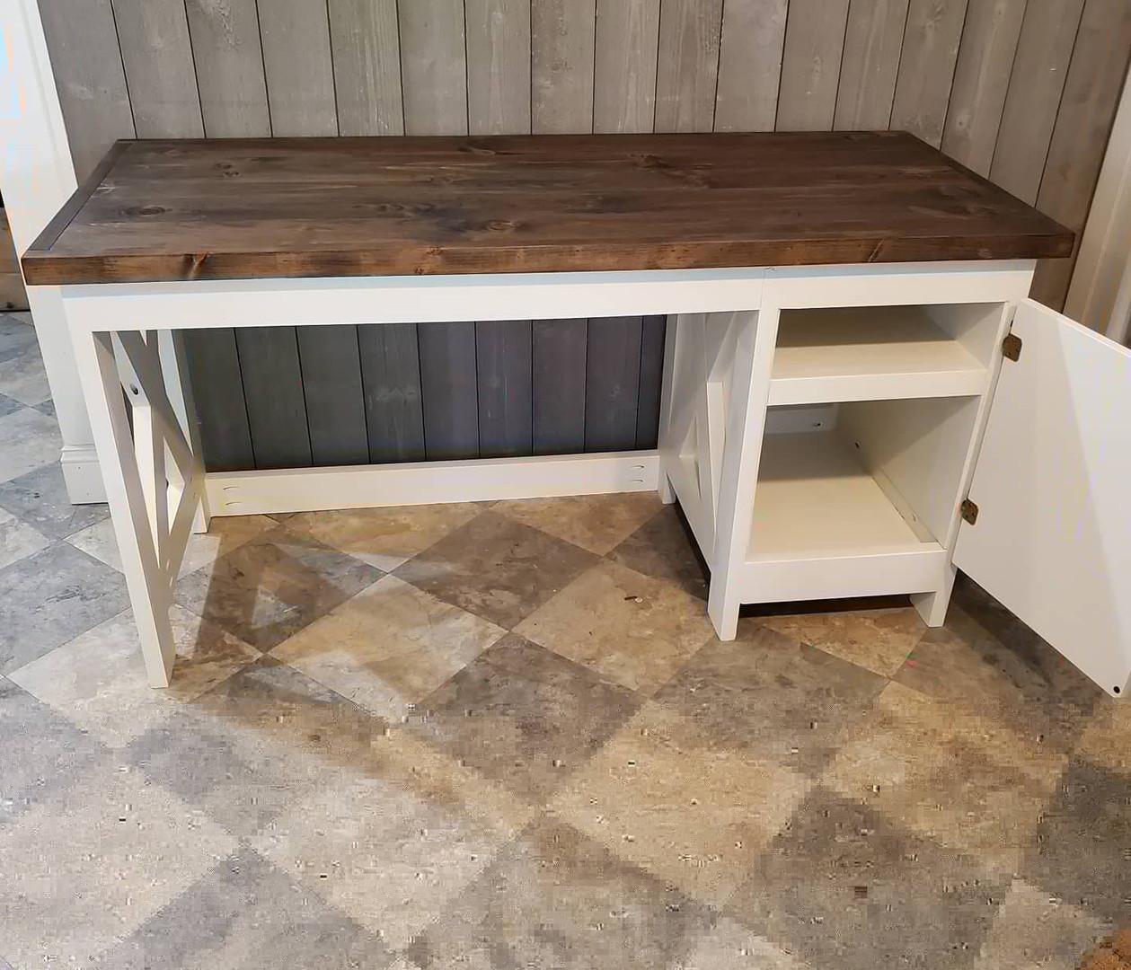 Desk with Door & Storage