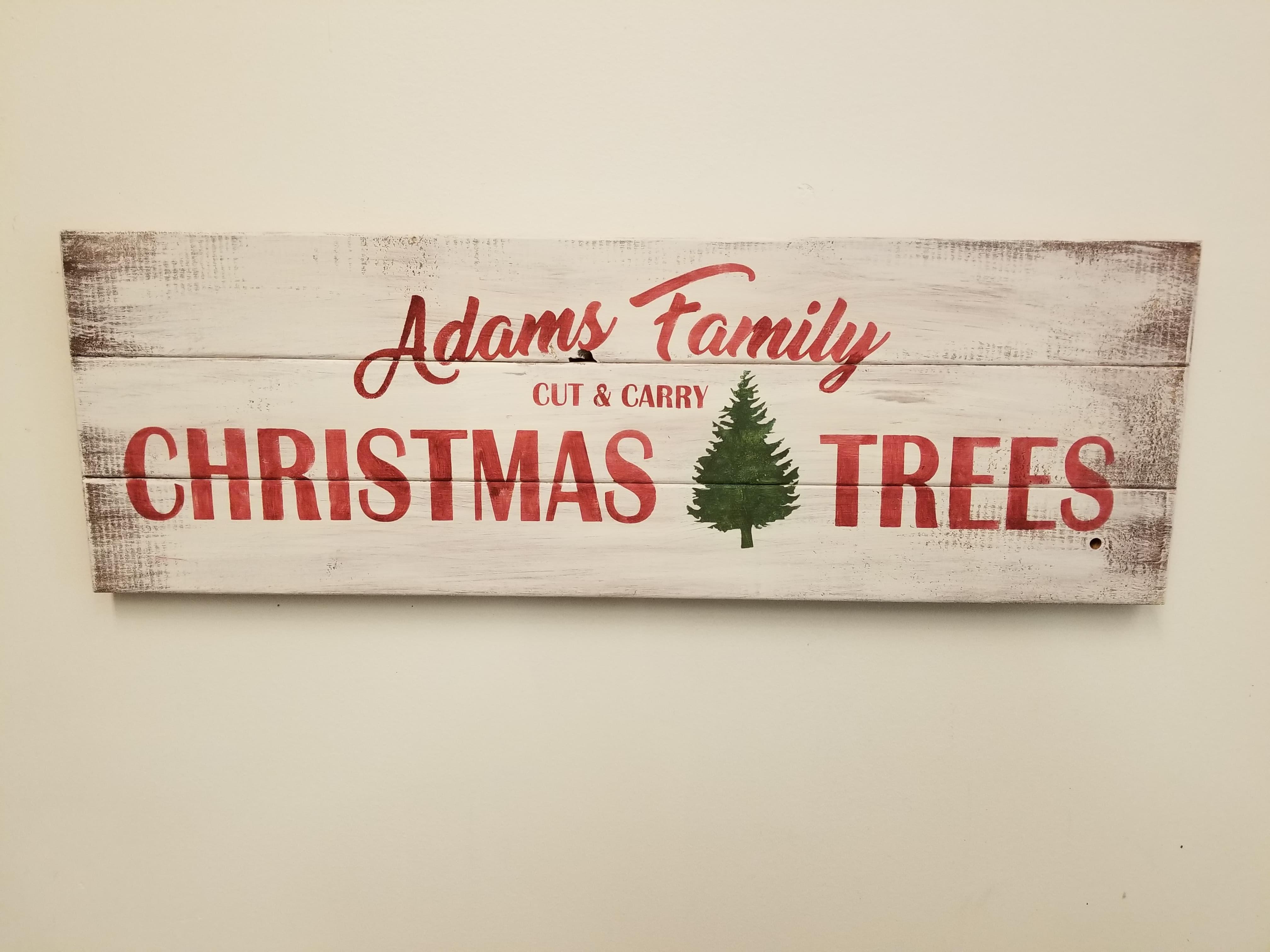 Christmas Tree Name Sign