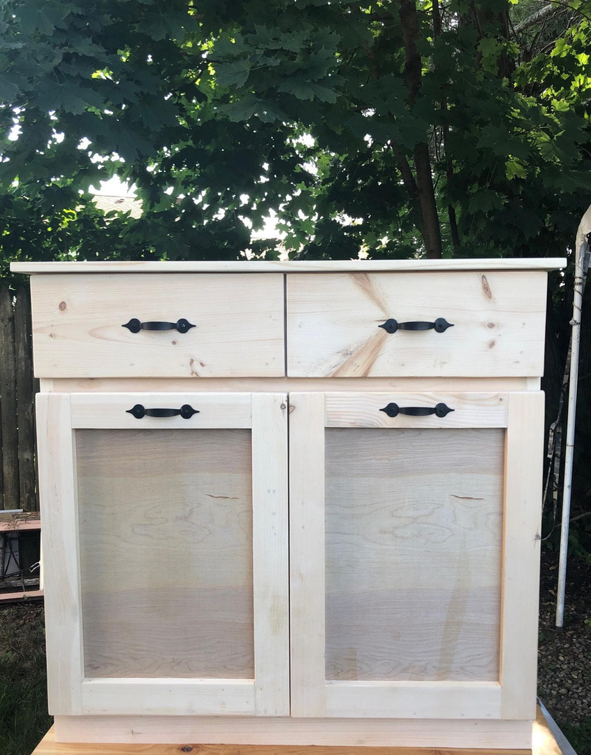 Double Garbage Bin with Drawers