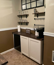 Storage with Two Doors, Shelves, Space for Fridge