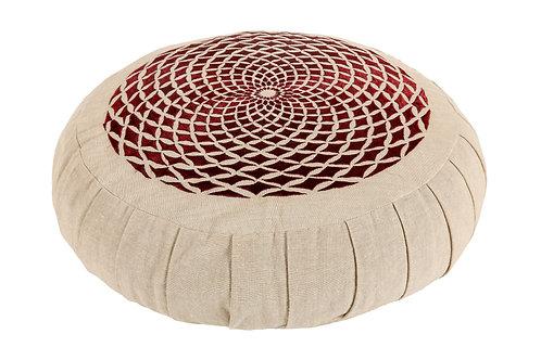 Meditation Cushion - Mandala Illusion Embroidered Zafu